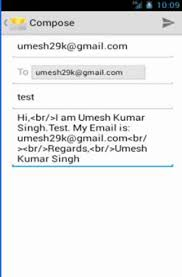 how to layout a email how to send email in android using scrolling layout