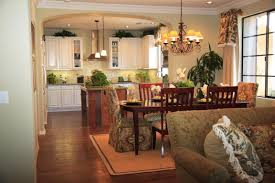 French Country Family Room Ideas by Wooden Dining Room Ideas Combined With Formal Kitchen Family Room