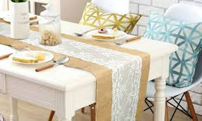diy table runner ideas table runner ideas table runner from plastic canvas circles cheap
