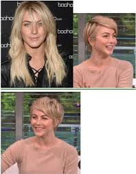 before and after picuters of long to short hair julianne hough new pixie before and after haircut long to short