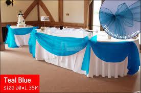2015 diy fabric wedding party sheer swag diy 10m