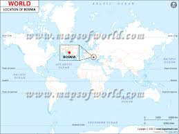 where is on the map where is bosnia and herzegovina location of bosnia and herzegovina