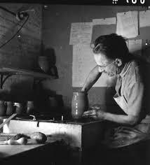 Shinner Bernard Leach At Shinners Bridge Pottery Photo Fritz Henle