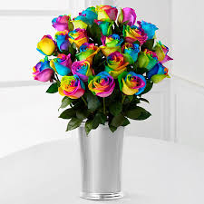 multi colored roses flowers near me rainbow roses rainbow flowers roses near me ftd
