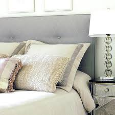 king size grey padded headboard king size gray tufted headboard