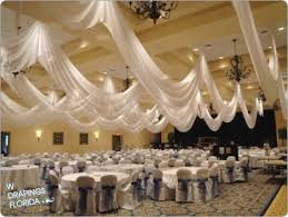 Ceiling Draping For Weddings W Drapings Florida Ceiling Drapings And Wedding Chiffon Custom