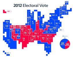 Romney Obama Map File Cartogram U20142012 Electoral Vote Svg Wikimedia Commons