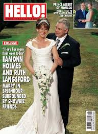 hello wedding dress only in hello eamonn and ruth langsford surrounded
