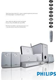 philips 5 1 home theater philips home theater system lx3950w user guide manualsonline com