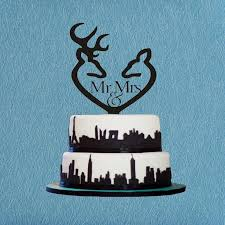 mr u0026 mrs cake topper deer cake topper hunting cake topper wedding