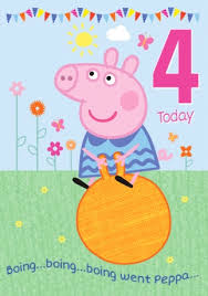 peppa pig birthday peppa pig birthday card 4 today funky pigeon