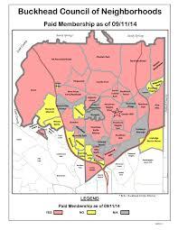 Atlanta Neighborhood Map by Bcn
