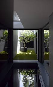 pool of house that looks minimalistic outside but elegant inside
