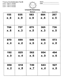 math single digit multiplication worksheets printable free