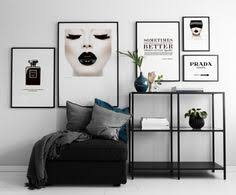 prints with fashion motifs chanel poster home décor