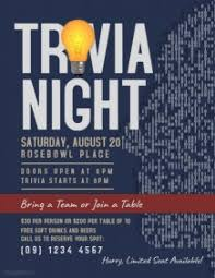 customizable design templates for trivia night postermywall