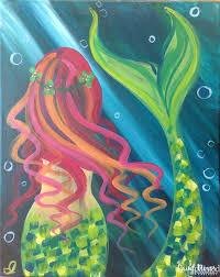 25 mermaid paintings ideas beautiful mermaid