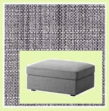 Kivik Ottoman Ikea Kivik Cover For Footstool Ottoman With Storage Isunda Gray