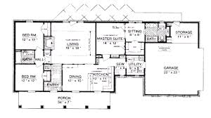 Ranch Style Home Plans With Basement Decor Ranch House Plans With Basement Rustic Adorable 1500 Sq Foot