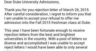 Regret Letter Unable To Join s rejection of college rejection letter goes viral whnt