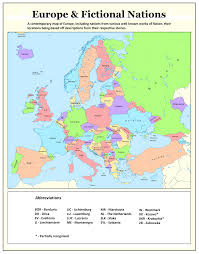 Cold War Map Of Europe by Fictional Nations Of Europe By Tullamareena On Deviantart