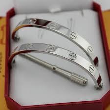 silver love bangle bracelet images Love bracelet white gold replica b6035416 jpg