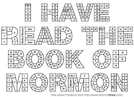 mormon i read the book of mormon reading chart