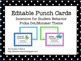 free punch card templates 28 images classroom freebies