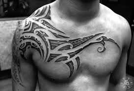 shoulder and chest hd hawaiian tribal chest tattoos best