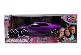 lamborghini purple and black amazon com jada toys girlmazing r c lamborghini murcielago 1 16