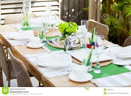 Elegant Table Settings by Elegant Table Cutlery Setting Outdoor Garden Royalty Free Stock