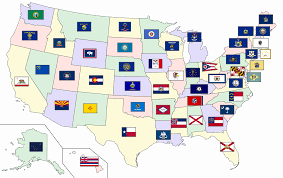 Images Of The United States Map by File Map Of The United States With Flags Svg Wikimedia Commons