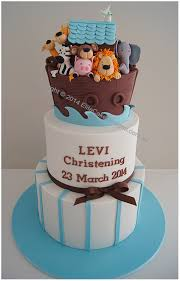 Centerpieces For Boy Baptism by Noah U0027s Ark Boy U0027s Christening Cake Baby Boy Christening Cakes By