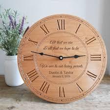 personalized wedding clocks personalized parents of groom wood clock wood clocks