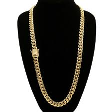 back necklace gold images Back to the future llc cuban link necklace gold plated cubic jpg