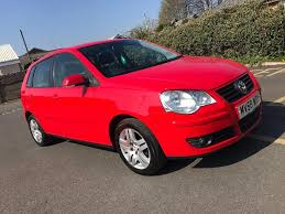 2008 58 volkswagen polo 1 2 match petrol manual 5 door red low