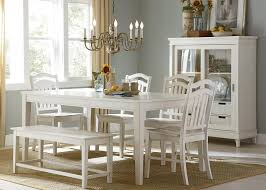 Aico Dining Room Sets by Liberty Furniture Summerhill Six Piece Rectangular Table Bench