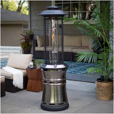 patio heaters backyards chic red ember carbon collapsible gun metal glass tube