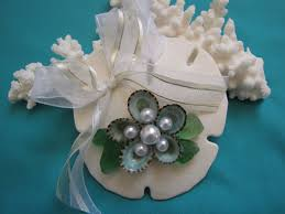 sand dollar seashell ornament beach wedding ornament shell
