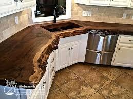 shaped kitchen island made of cedar tree designs pinterest natural wood countertops live edge wood slabs littlebranch farm