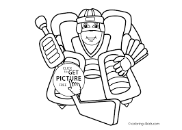 hockey sport coloring page for kids printable free coloing