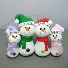 snowman family polymer clay ornament polymer clay ornaments clay