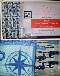 Lighthouse Curtains Bathroom by Nautical Seahorse Starfish Lighthouse Fabric Shower Curtain Hooks