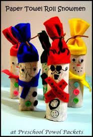 paper towel roll snowmen craft preschool powol packets