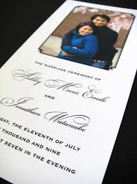 printing wedding programs using photos in your wedding stationery letterpress wedding