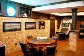 excellent basement remodeling ideas featuring dining room and