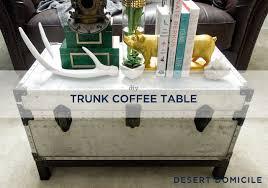 Trunk Coffee Table Winter Pinterest Challenge Diy Trunk Coffee Table Desert Domicile