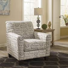 Ashley Furniture Accent Chairs Signature Design By Ashley Alenya Quartz Tan Script Print Accent