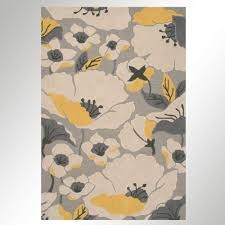 Modern Floral Area Rugs Picture 5 Of 9 Poppy Area Rug Cecilia Gray Modern Poppy