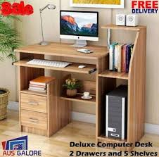 table with drawers and shelves new home office computer desk study table compact storage drawers